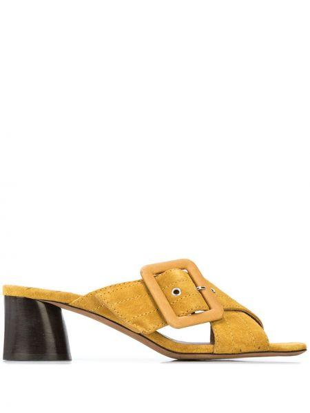Żółte sandały skorzane klamry Tabitha Simmons