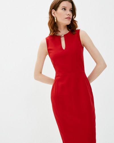 Красное платье-футляр Trussardi
