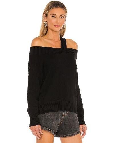 Kaszmir czarny bawełna pulower 525