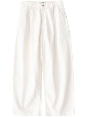 Białe spodnie z paskiem bawełniane Studio Nicholson