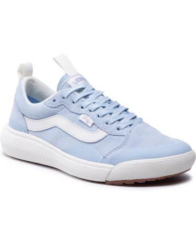 Buty sportowe skorzane - niebieskie Vans