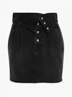 Spódnica jeansowa z paskiem - czarna Re/done