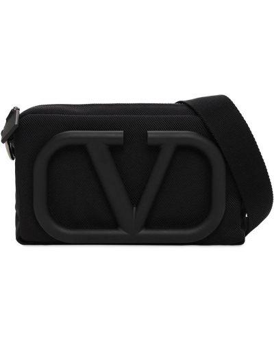 Z paskiem nylon czarny body Valentino Garavani