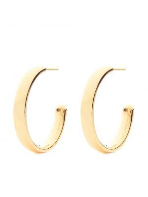 Золотистые серьги-кольца золотые позолоченные Monica Vinader