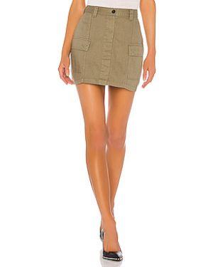Джинсовая юбка на пуговицах карго Dr Denim