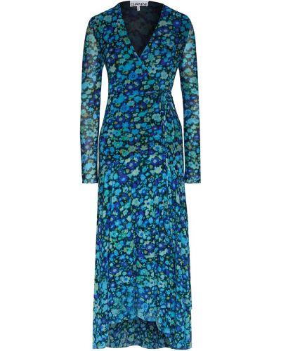 Платье миди с запахом макси Ganni