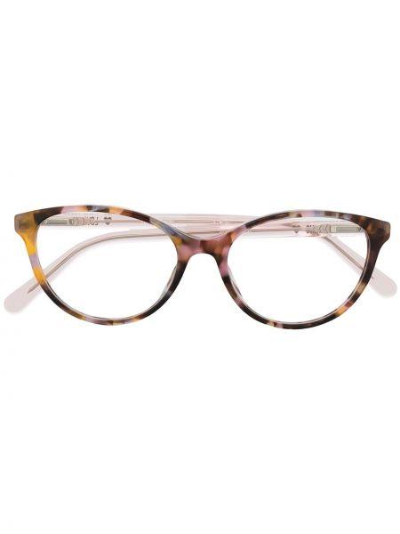 Różowa oprawka do okularów Love Moschino