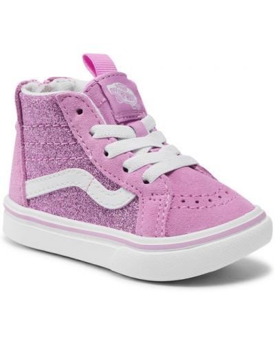 Różowe sneakersy Vans