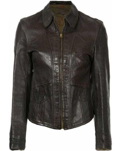 Классическая кожаная куртка на молнии Fake Alpha Vintage