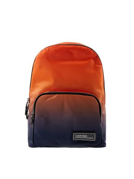 Pomarańczowy torba na ramię w paski z nylonu Ck Calvin Klein