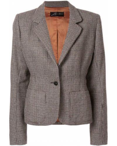 Классический пиджак серый приталенный Zambesi