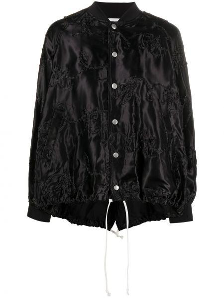 Черная куртка с вышивкой с воротником Comme Des Garçons Girl