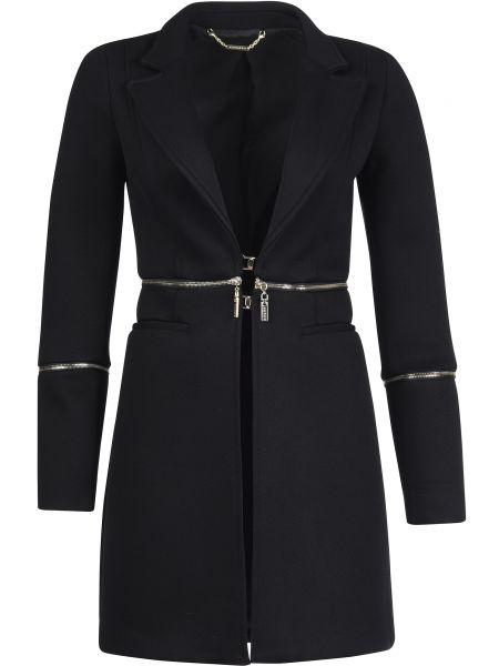 Пальто из вискозы - черное Mangano