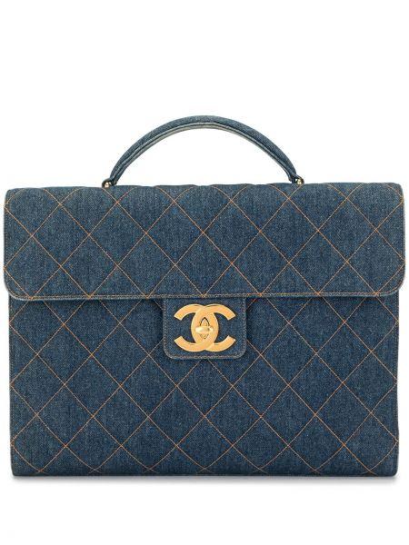 Teczka skórzana - niebieska Chanel Pre-owned
