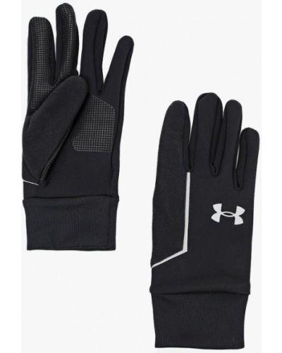 Черные перчатки спортивные Under Armour