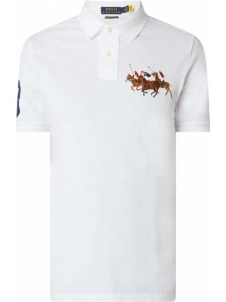 Bawełna biały bawełna t-shirt Polo Ralph Lauren