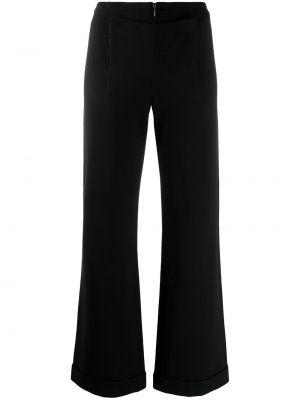 Черные расклешенные брюки с воротником Jean Paul Gaultier Pre-owned