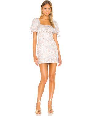 Sukienka mini z suwakiem z guzikami Majorelle