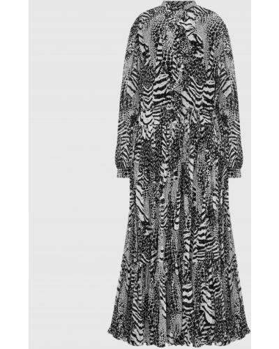 Платье миди с принтом - черное Twin-set