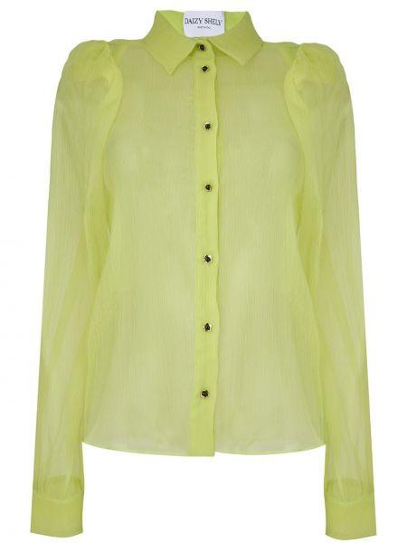 Классическая салатовая прямая классическая рубашка с воротником Daizy Shely