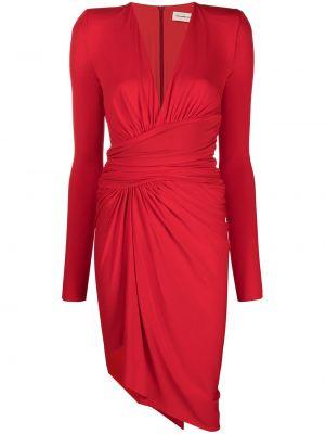 Sukienka midi asymetryczna z długimi rękawami z wiskozy Alexandre Vauthier