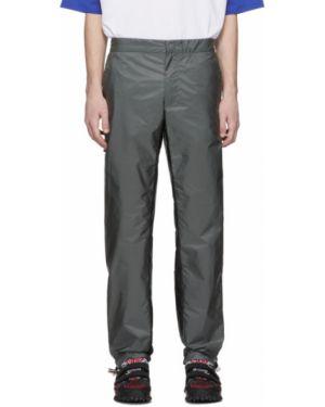 Прямые брюки черные с карманами Prada
