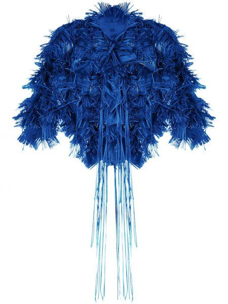 С рукавами синий пиджак с круглым вырезом Paskal