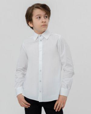 Рубашка приталенная белая Button Blue
