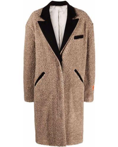 Черное акриловое пальто Heron Preston