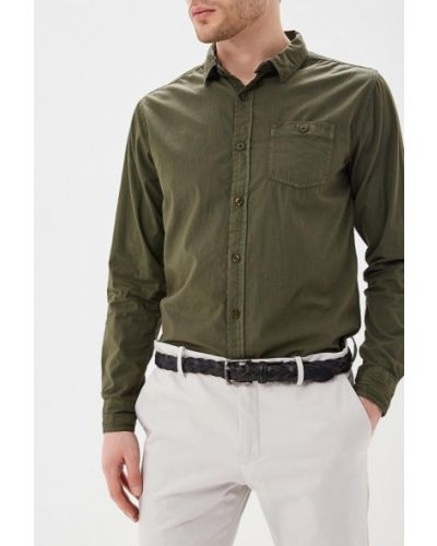 Зеленая рубашка с длинным рукавом Mezaguz
