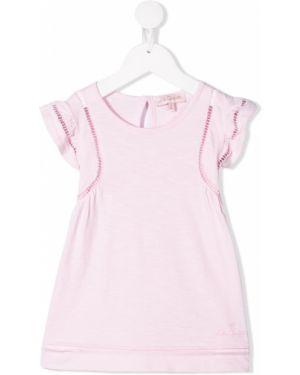 Приталенное розовое платье Lili Gaufrette