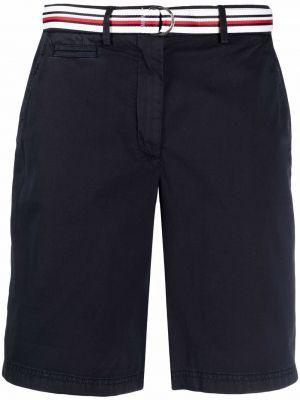 Хлопковые с завышенной талией шорты с карманами Tommy Hilfiger