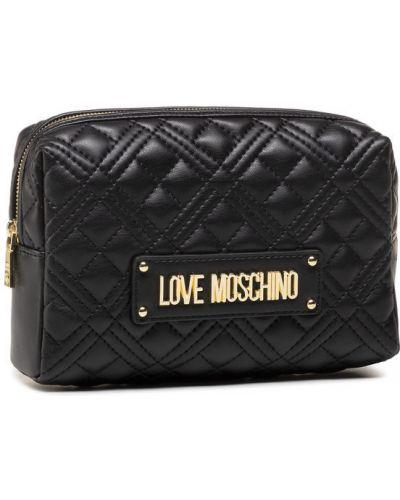 Czarna kosmetyczka Love Moschino