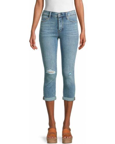 Синие джинсы с карманами с заплатками True Religion