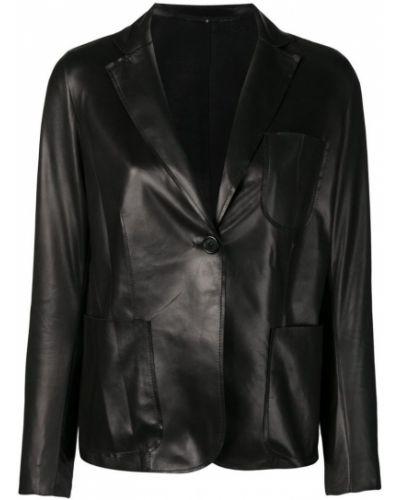 Пиджак черный с накладными карманами Salvatore Santoro