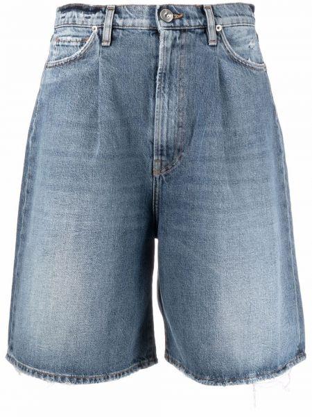 Синие шорты с карманами 3x1