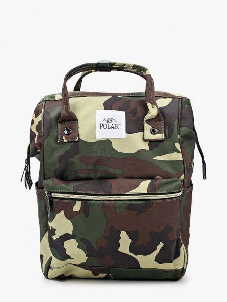 Текстильный зеленый городской рюкзак Polar