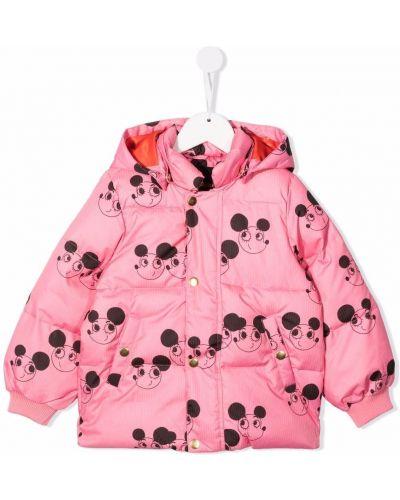 Różowa kurtka z printem Mini Rodini