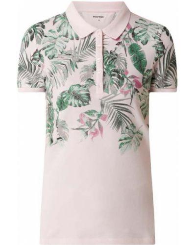 Różowy t-shirt bawełniany Montego