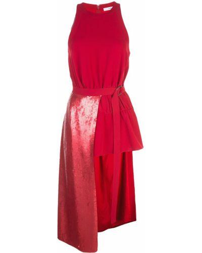 Блузка без рукавов красная Tibi