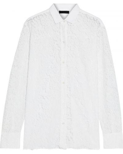 Biała koszula bawełniana koronkowa Atm Anthony Thomas Melillo