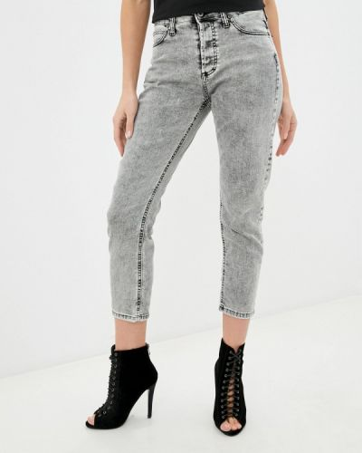Серые джинсы-скинни узкого кроя Please