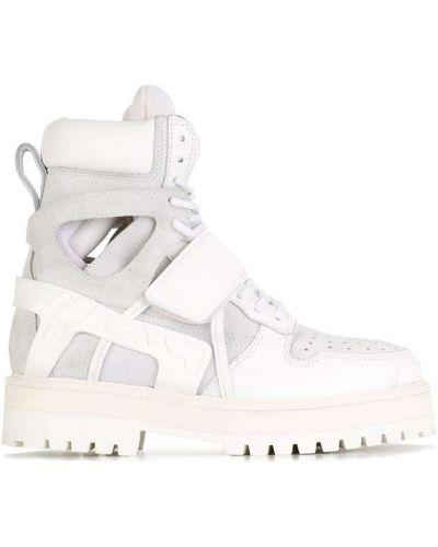Белые сапоги кожаные Hood By Air