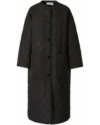 Czarny płaszcz Rodebjer