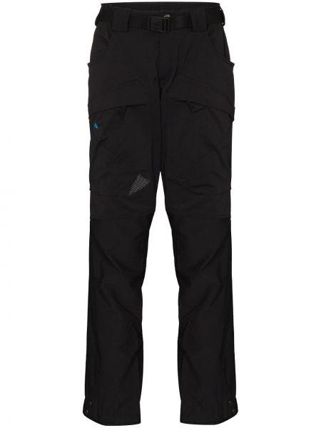 Прямые брючные черные прямые брюки Klättermusen
