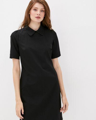 Прямое черное платье Lusio