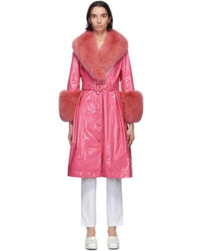 Z rękawami biały długo płaszcz z kieszeniami z mankietami Saks Potts