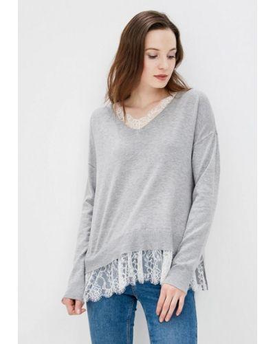 Серый пуловер 2018 Befree