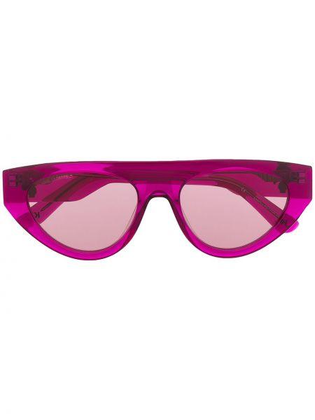 Прямые розовые солнцезащитные очки с тиснением Karl Lagerfeld