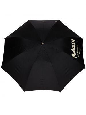 Parasol z printem - czarny Alexander Mcqueen